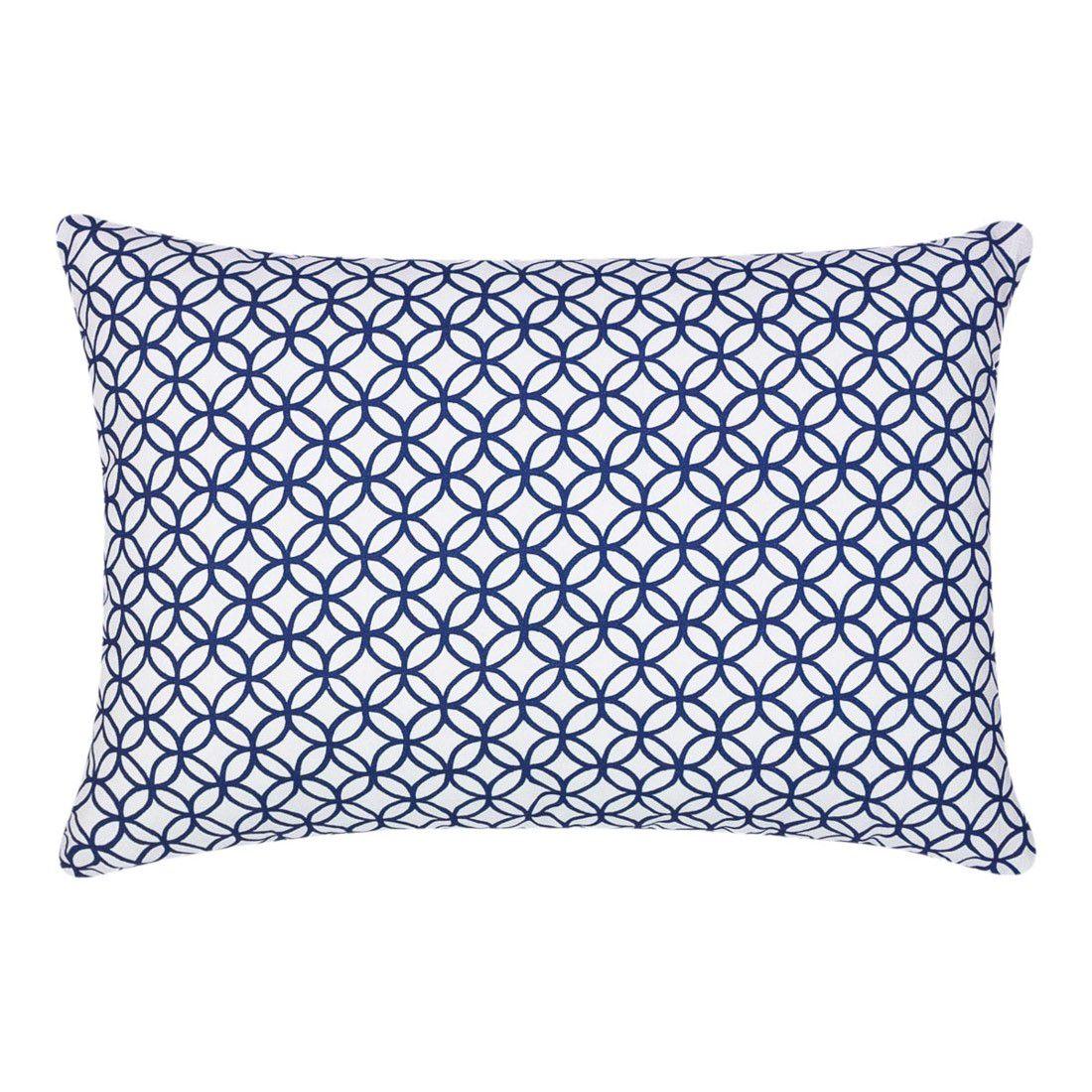 Capa de almofada 45x30cm círculos azul marinho