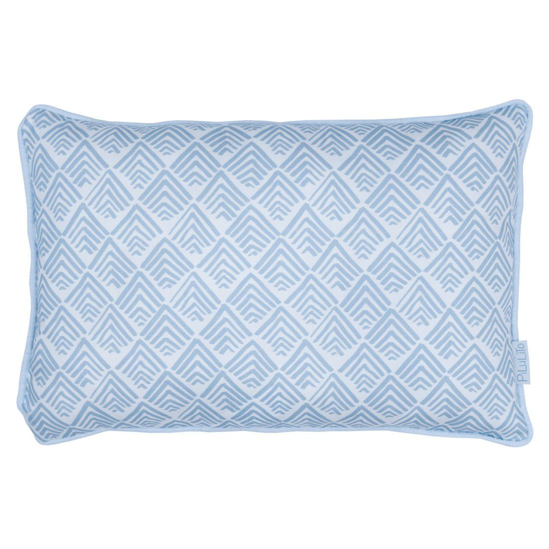 Capa de almofada 45x30cm oca azul céu