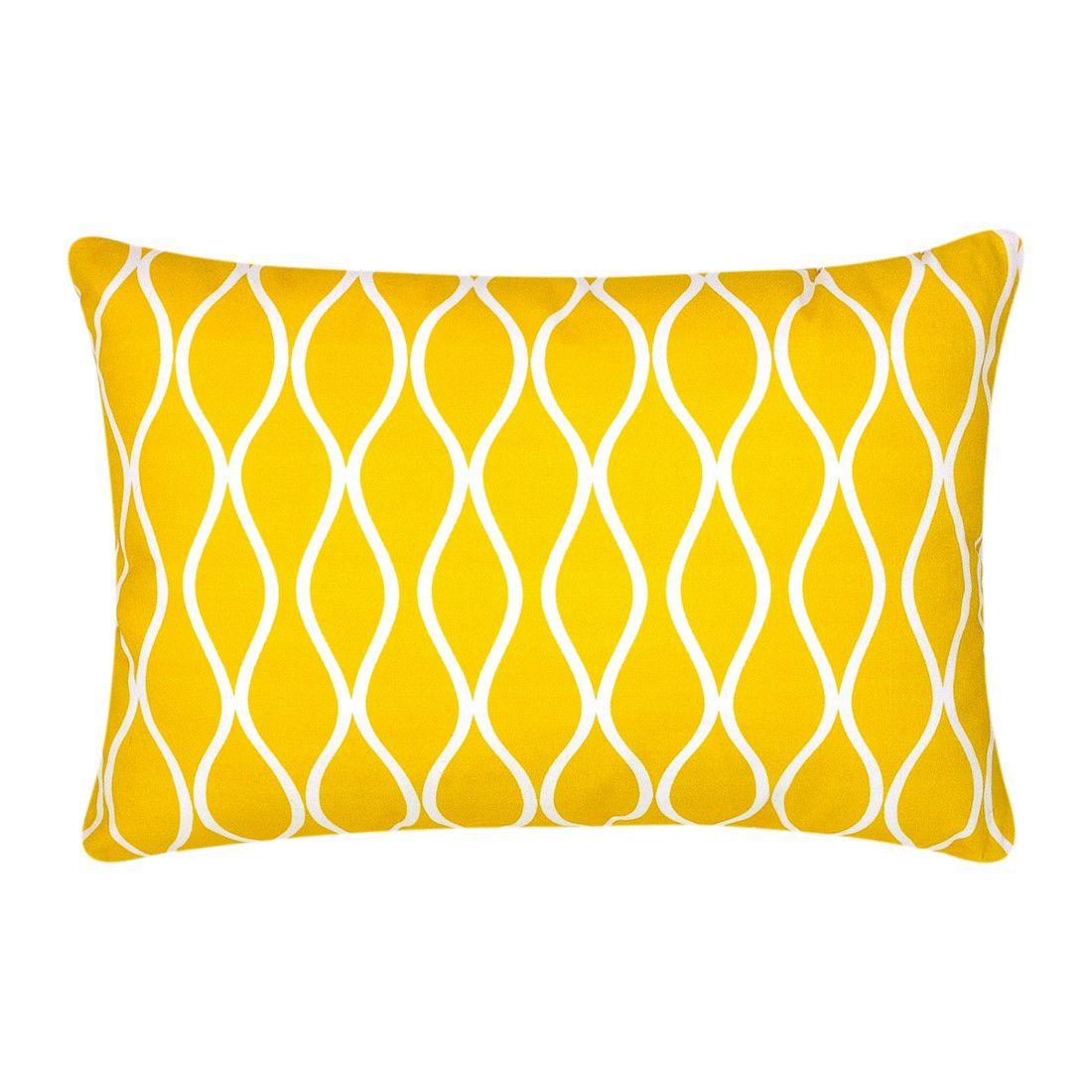 Capa de almofada 45x30cm ondas amarelo