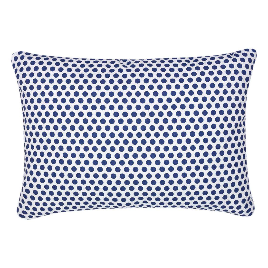Capa de almofada 45x30cm poá azul marinho