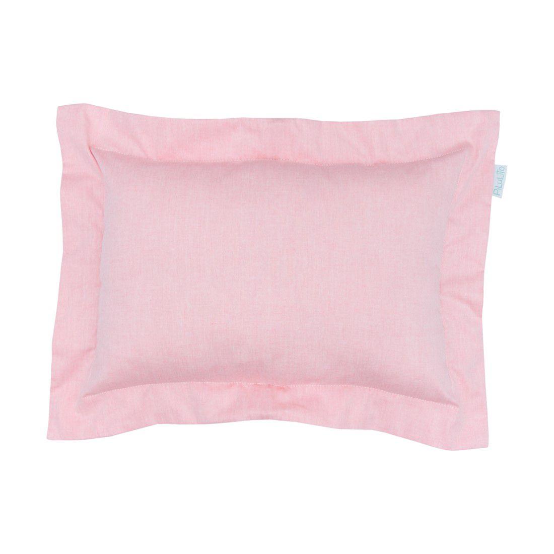 Capa de almofada 45x30cm rosa chá