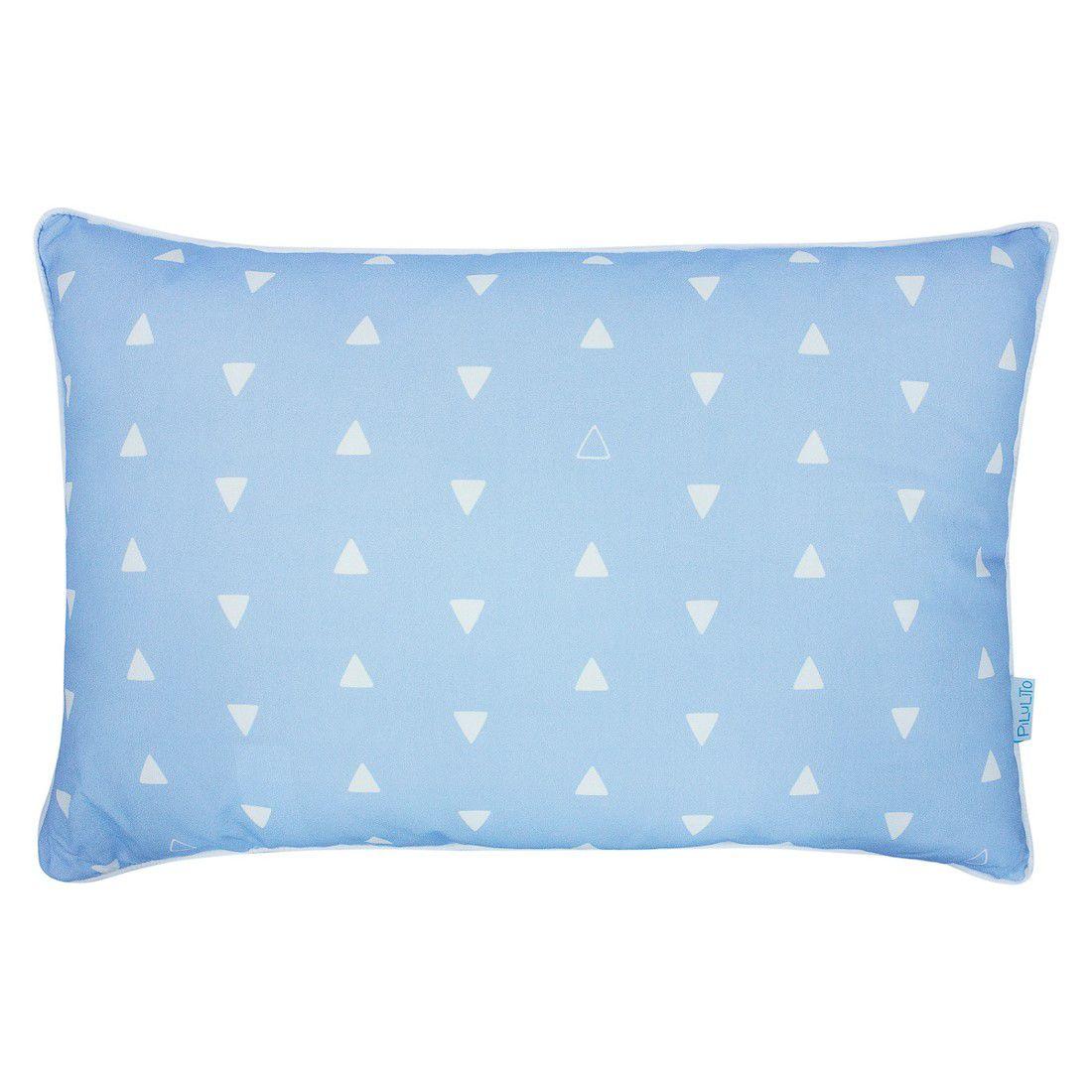 Capa de almofada 45x30cm triângulos azul claro