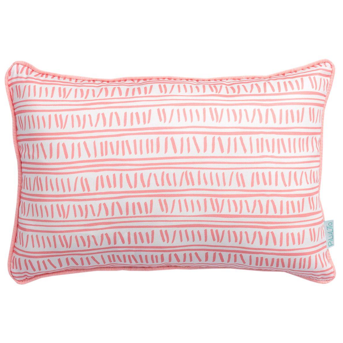 Capa de almofada 45x30cm trilha rosa