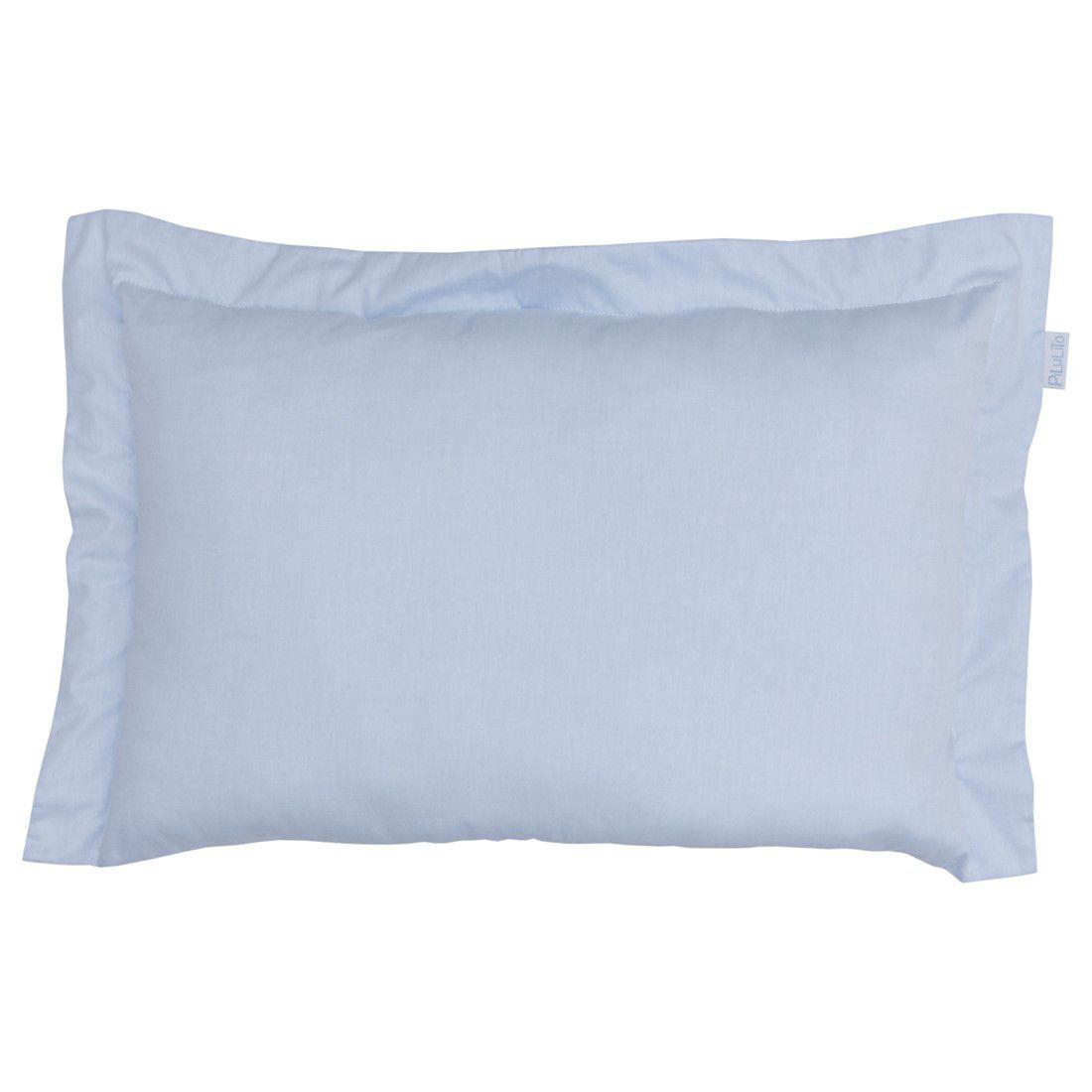 Capa de almofada de cabeceira 60x40cm azul céu