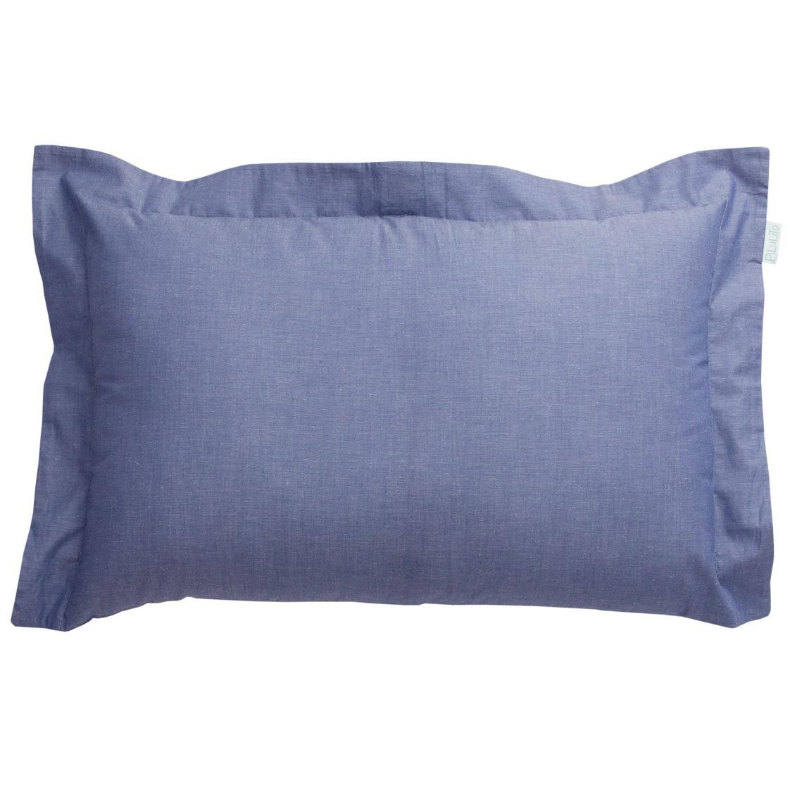Capa de almofada de cabeceira 60x40cm azul jeans