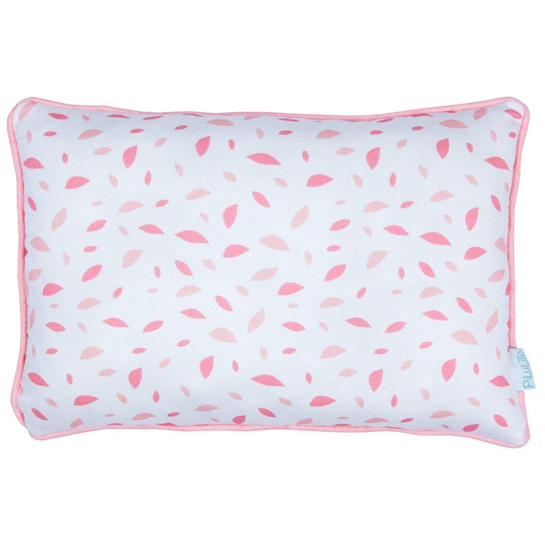 Capa de almofada de cabeceira 60x40cm chão de folhas rosa chá