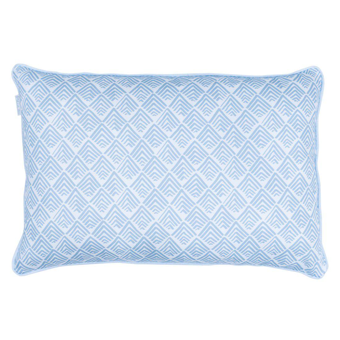 Capa de almofada de cabeceira 60x40cm oca azul céu