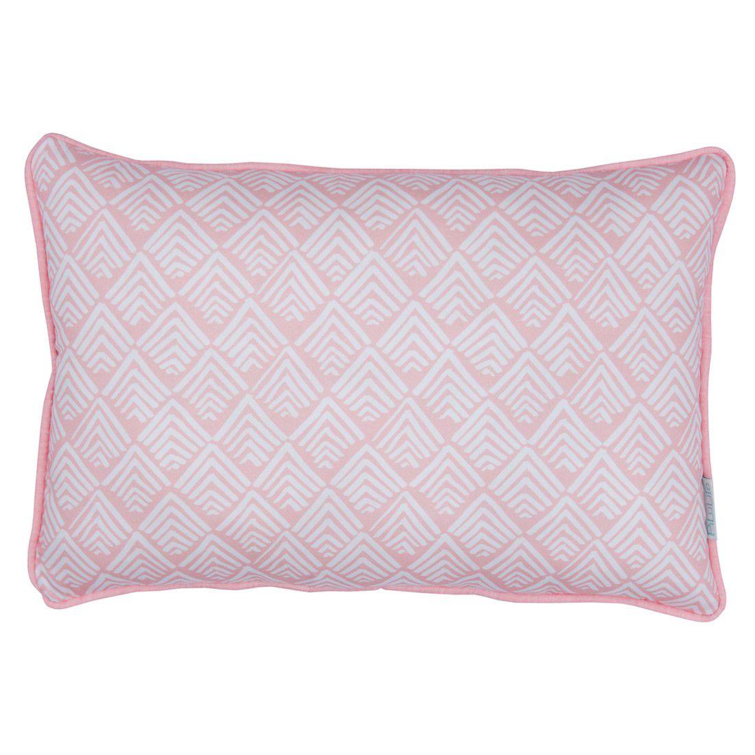 Capa de almofada de cabeceira 60x40cm  oca rosa chá