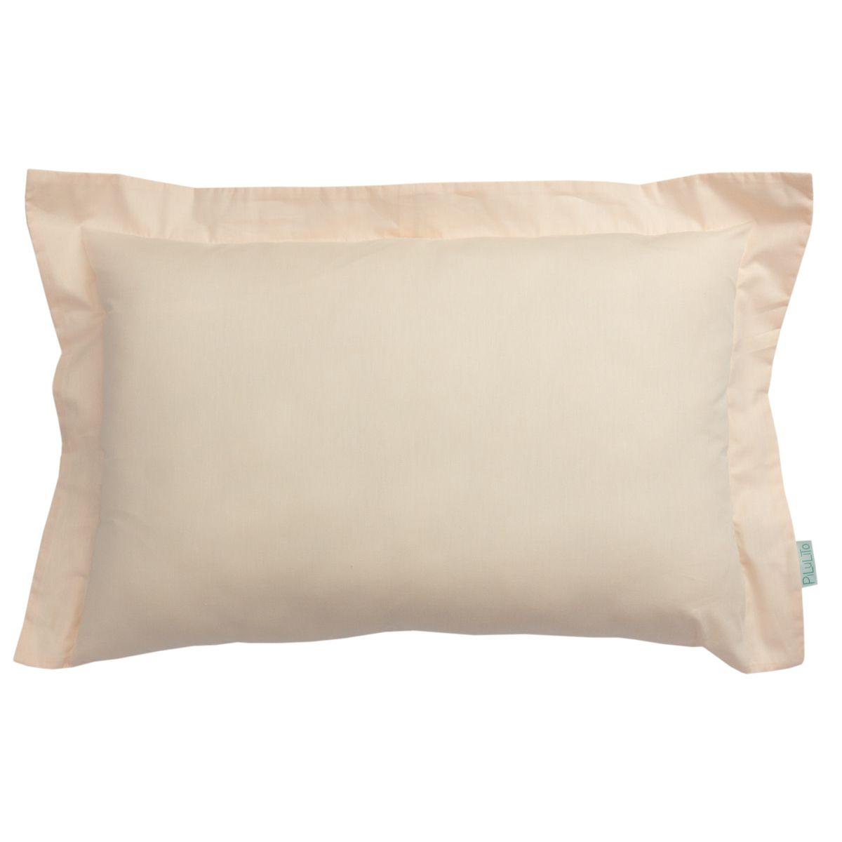 Capa de almofada de cabeceira 60x40cm salmão suave