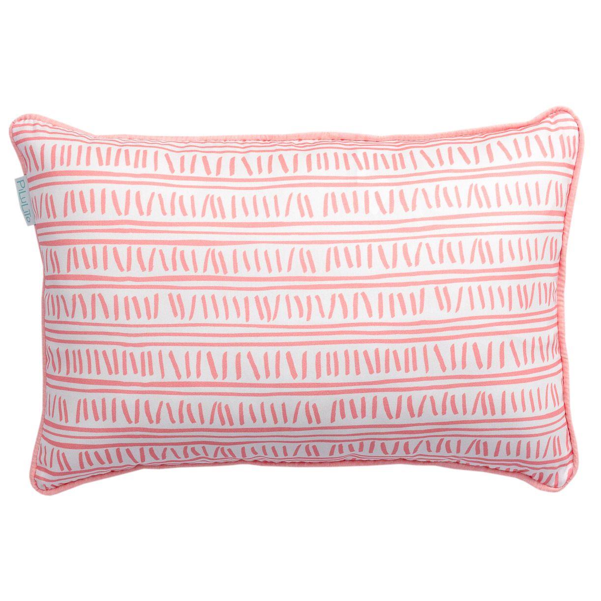 Capa de almofada de cabeceira 60x40cm trilha rosa