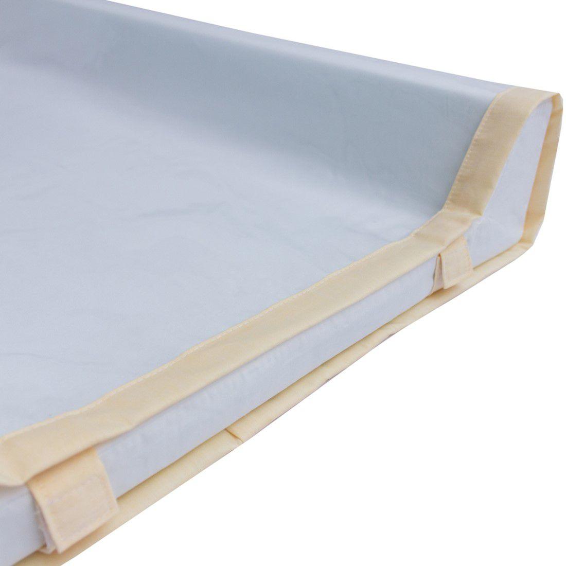 Capa plástica transparente com velcro p/ trocador americano