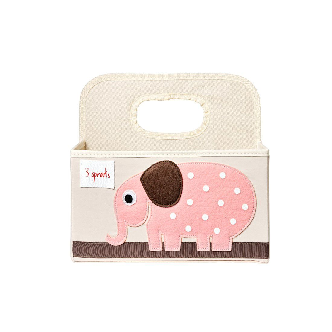 Cestinho organizador 3 Sprouts Porco Elefante