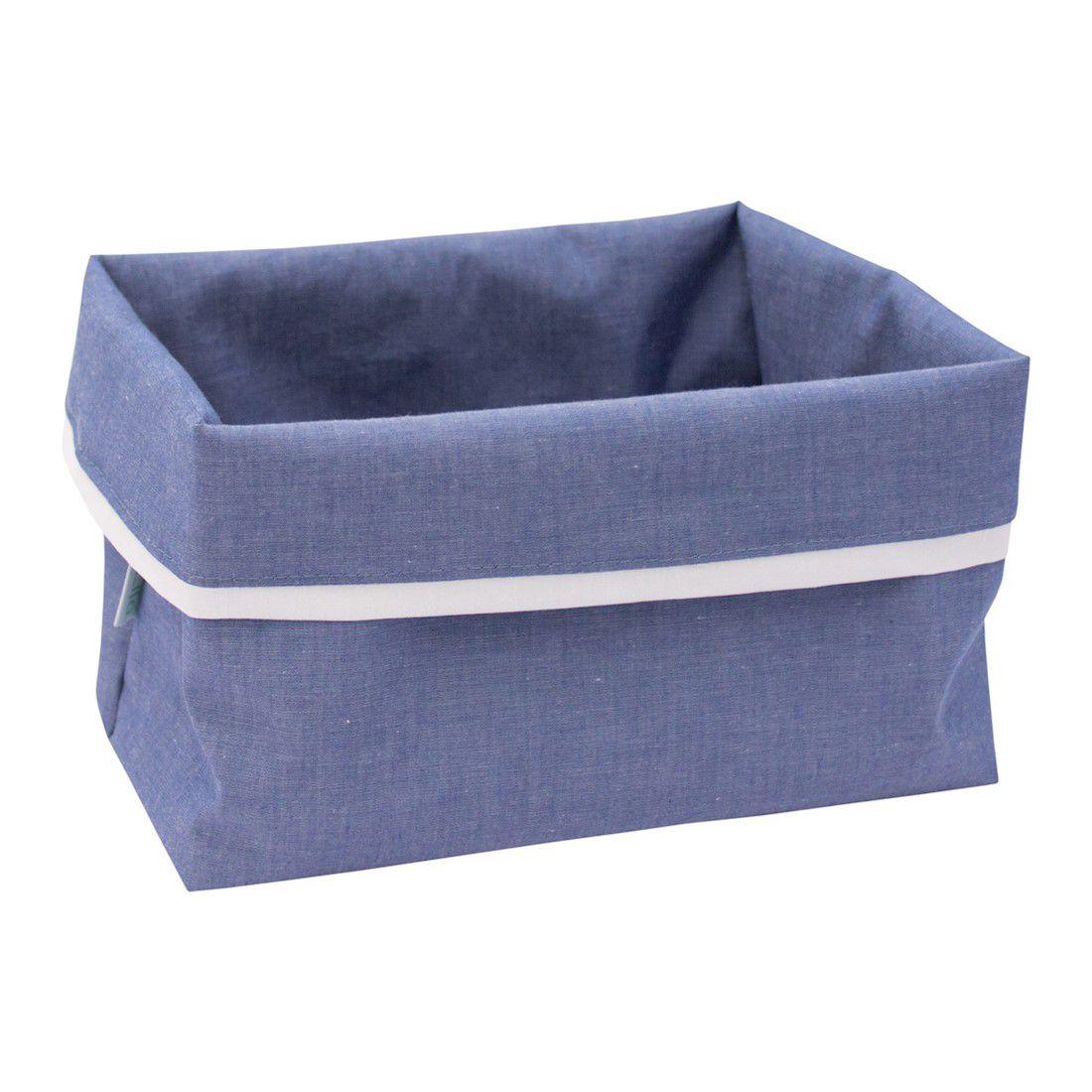 Cestinho organizador azul jeans