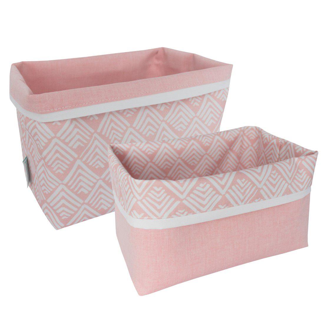 Cestinho organizador oca rosa chá
