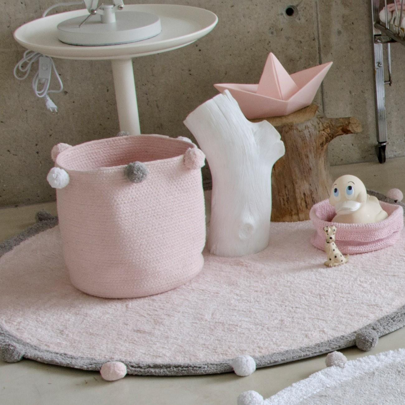 Cesto Lorena Canals Bubbly Rosa 30 x 30 x 30 cm