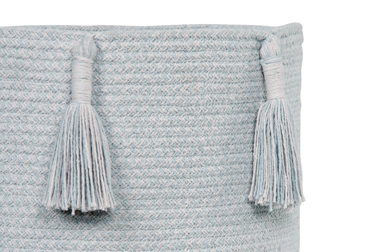 Cesto Lorena Canals Woody Pearl Blue 30 x 30 x 30 cm