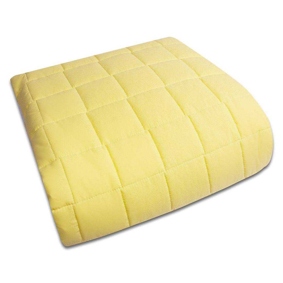 Colcha Mini Cama Com Elástico Percal 200 Fios Cubos amarelo Claro