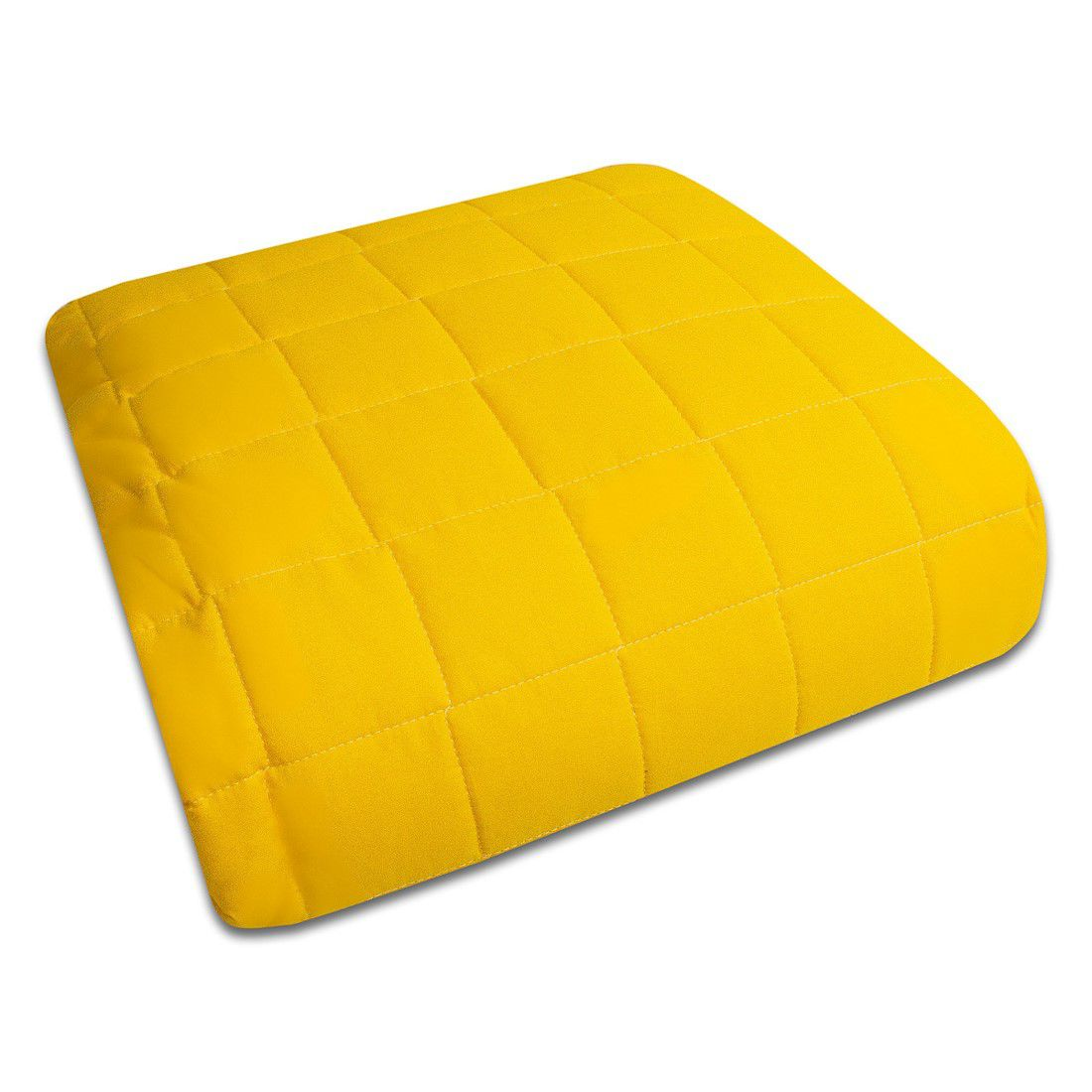 Colcha Júnior (mini cama) com Elástico Percal 200 Fios Cubos amarelo Ouro