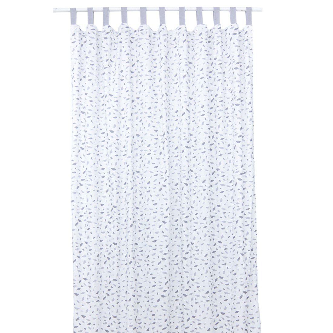 Cortina Chão de Folhas Cinza 145 x 250 cm