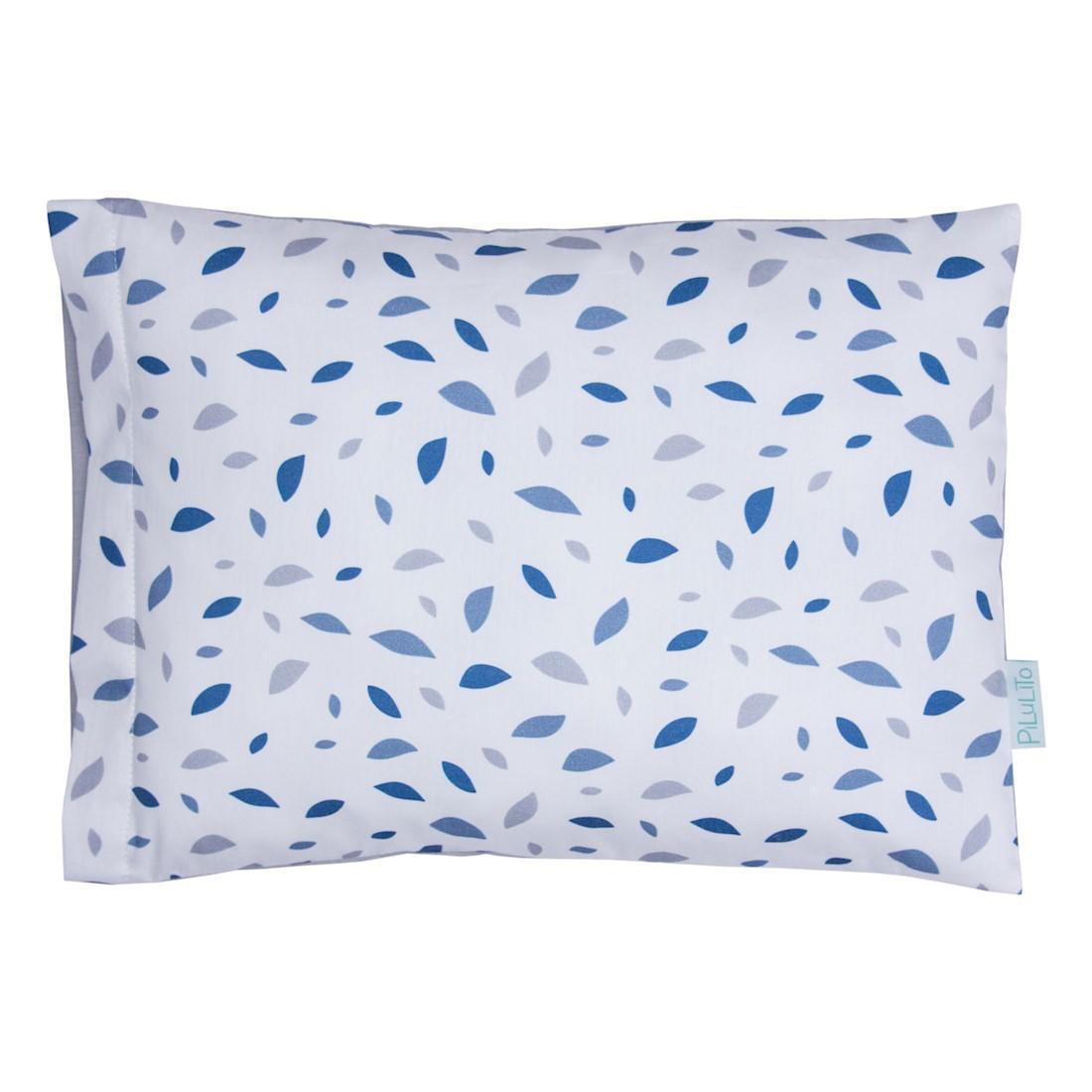 Fronha chão de folhas azul cobalto