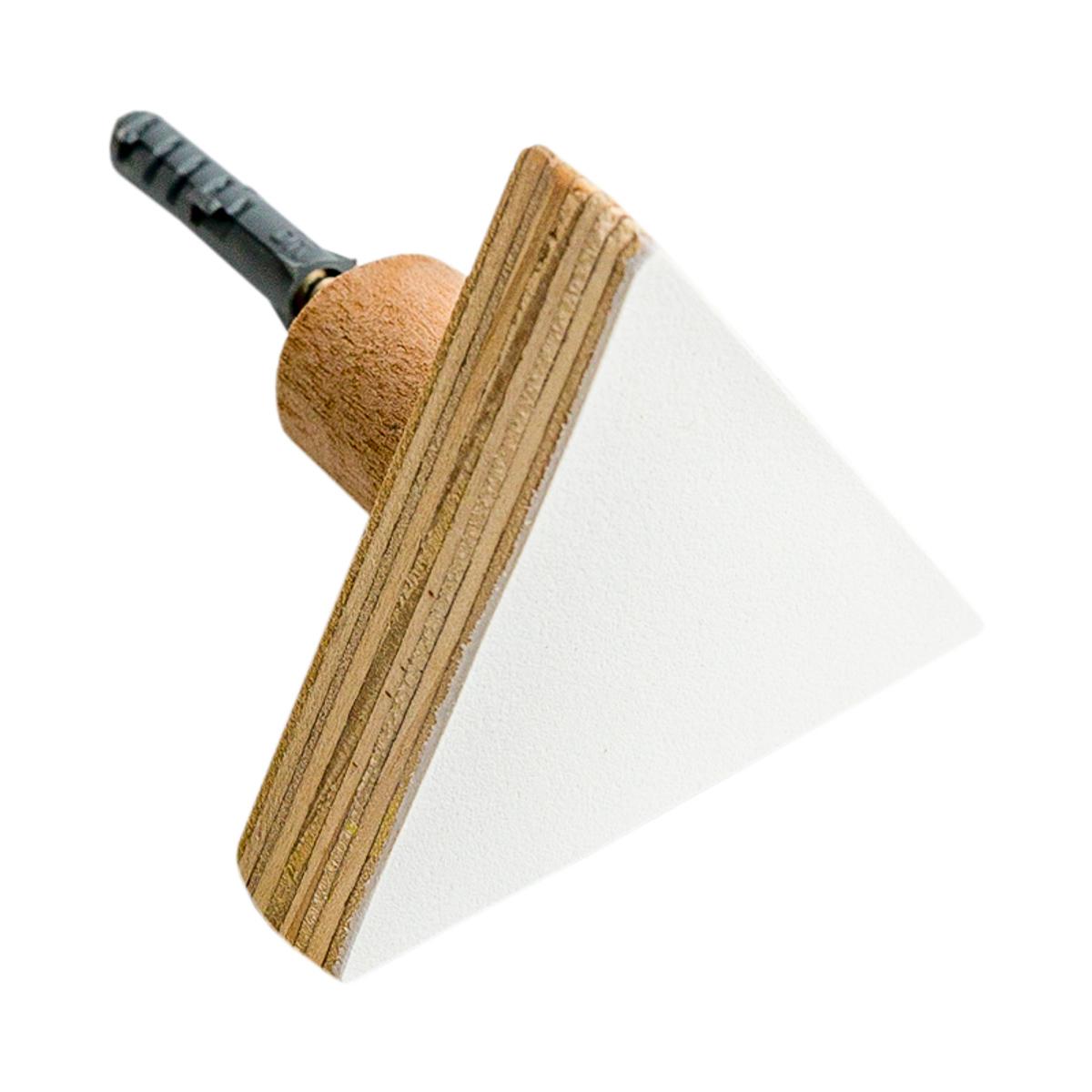 Gancho de Parede Triângulo Branco e Madeira