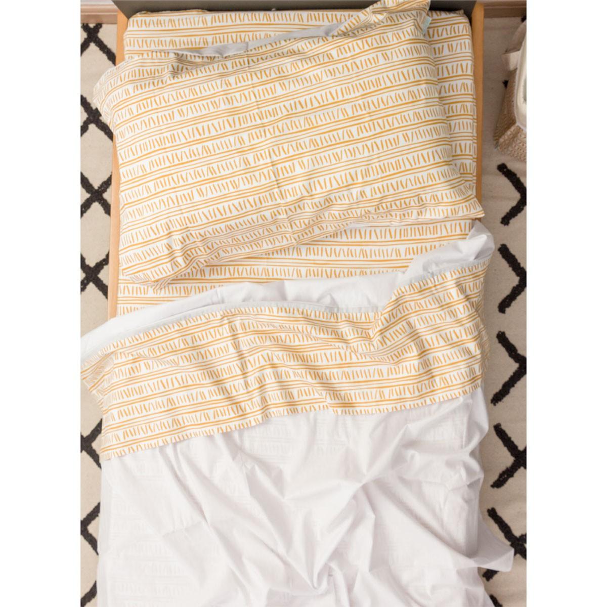 Jogo de lençol Trilha Amarelo Ocre
