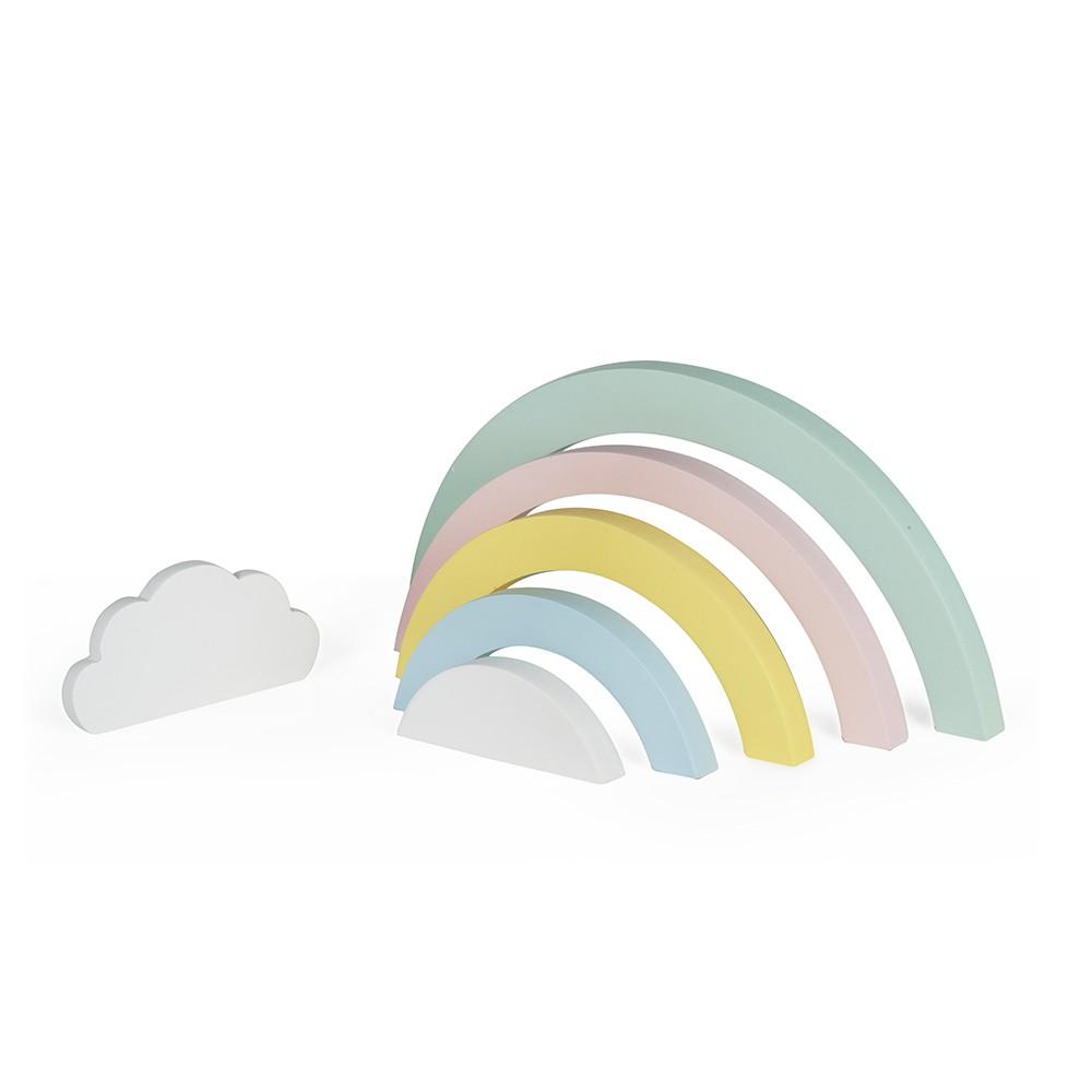 Jogo de Madeira Arco Íris Candy Colors com Nuvem