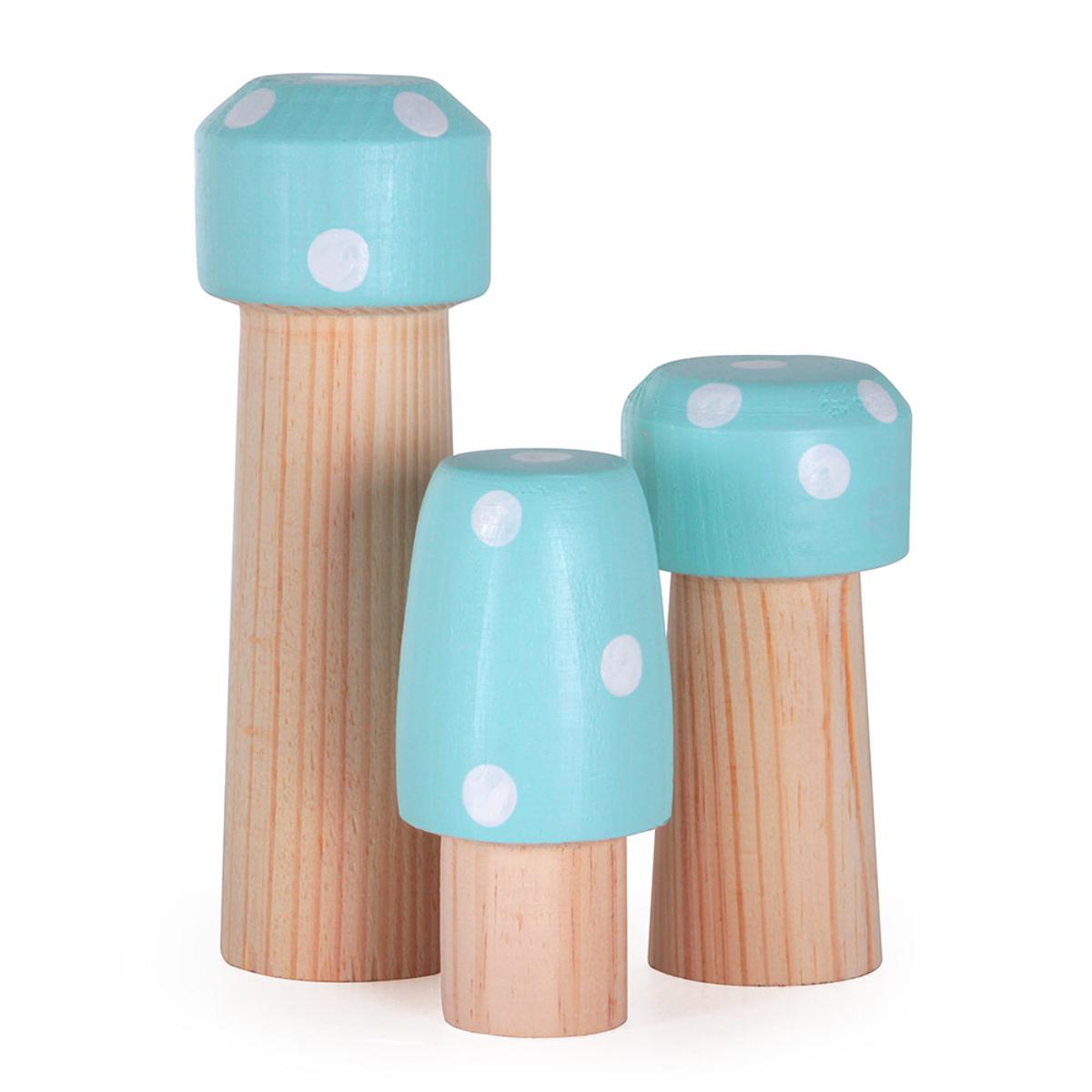 Kit 3 Cogumelos Modali Verde
