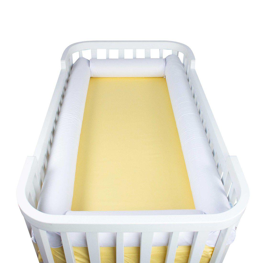 Kit Berço Rolo branco (4 peças)