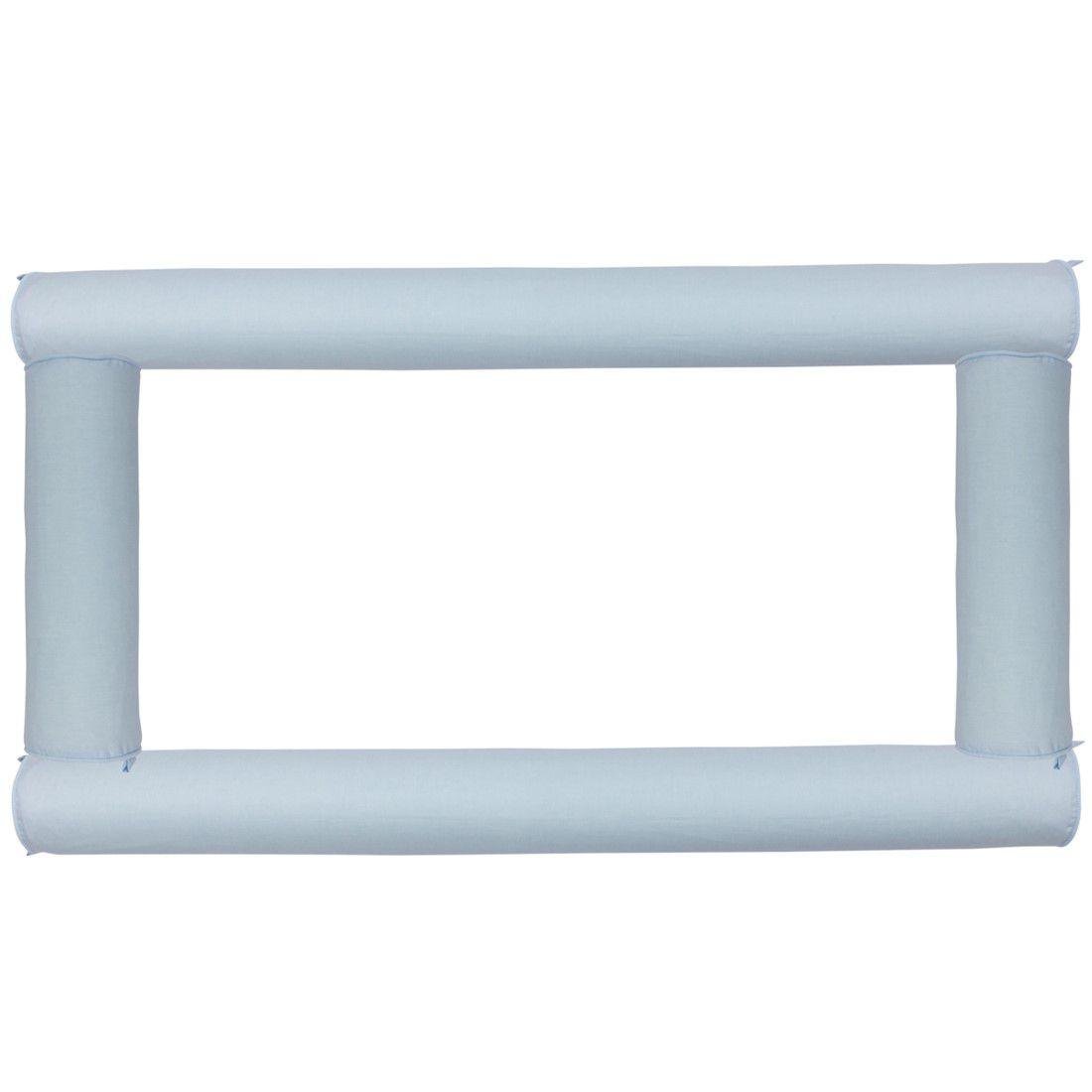 Kit Berço Rolos azul ceu(4 peças)