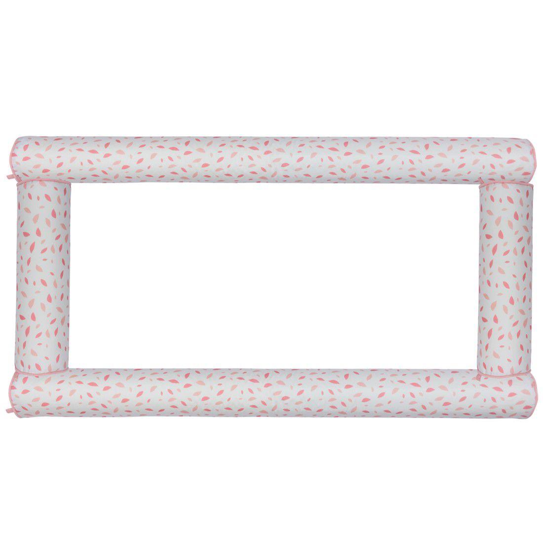Kit Berço Rolos chão de folhas rosa chá (4 peças)