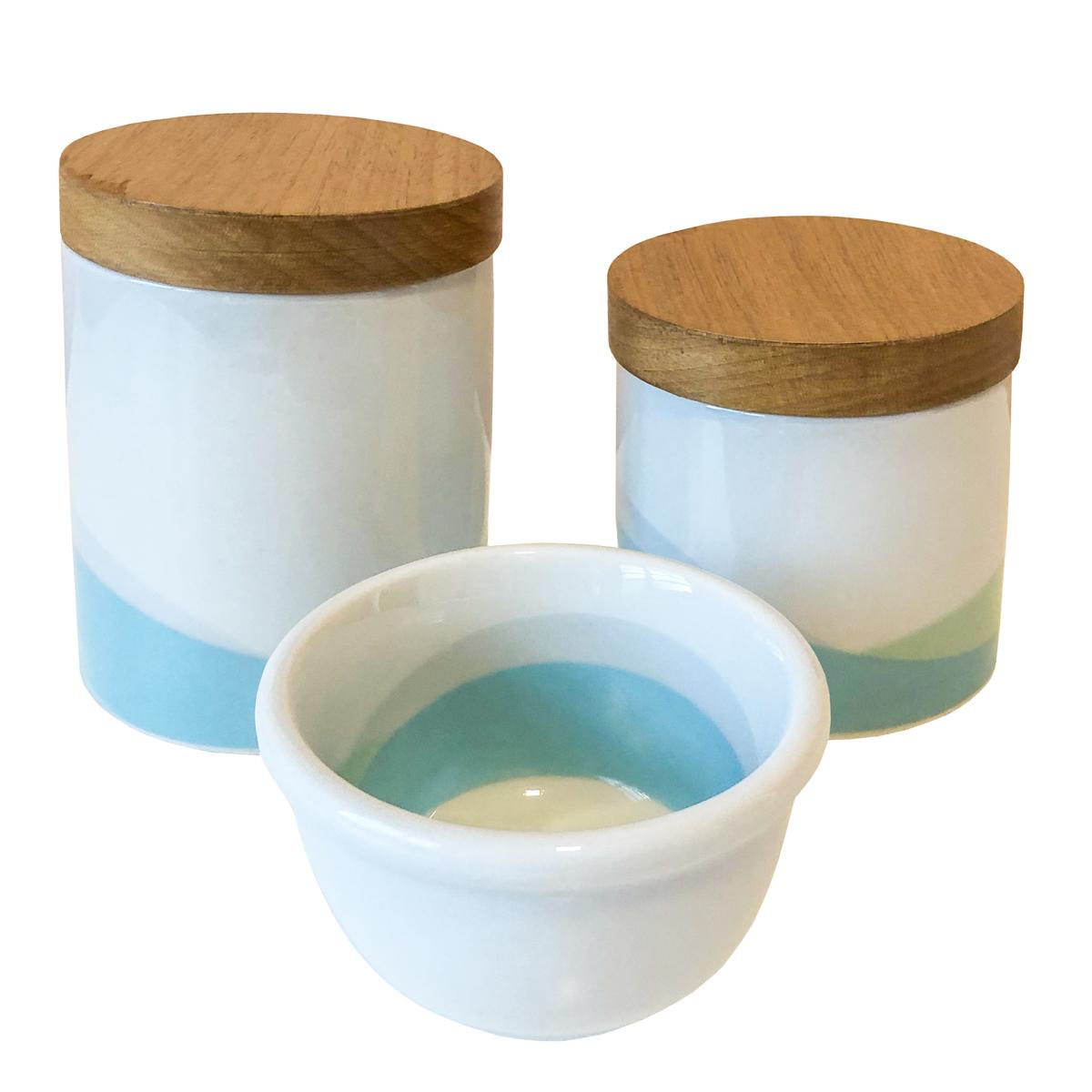 Kit Higiene Ameise Design Azul E Verde