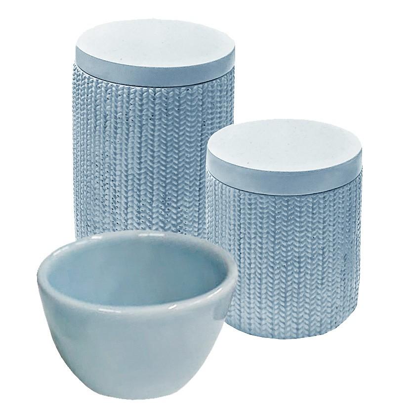 Kit Higiene Trama Azul
