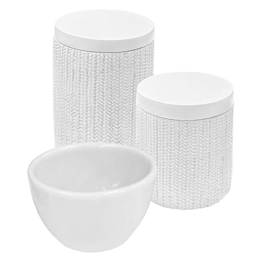 Kit Higiene Trama Branco