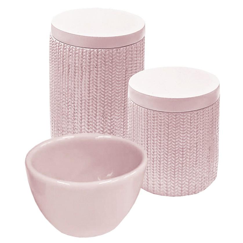 Kit Higiene Trama Rosa