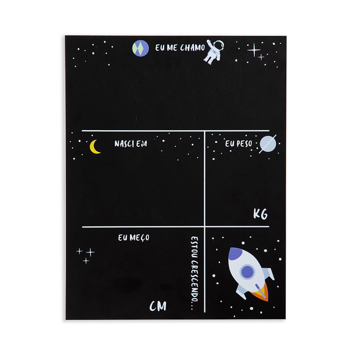 Lousa Primeiros Registros do Bebê Astronauta