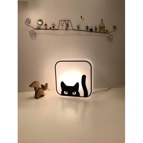 Luminária Box Gatinho