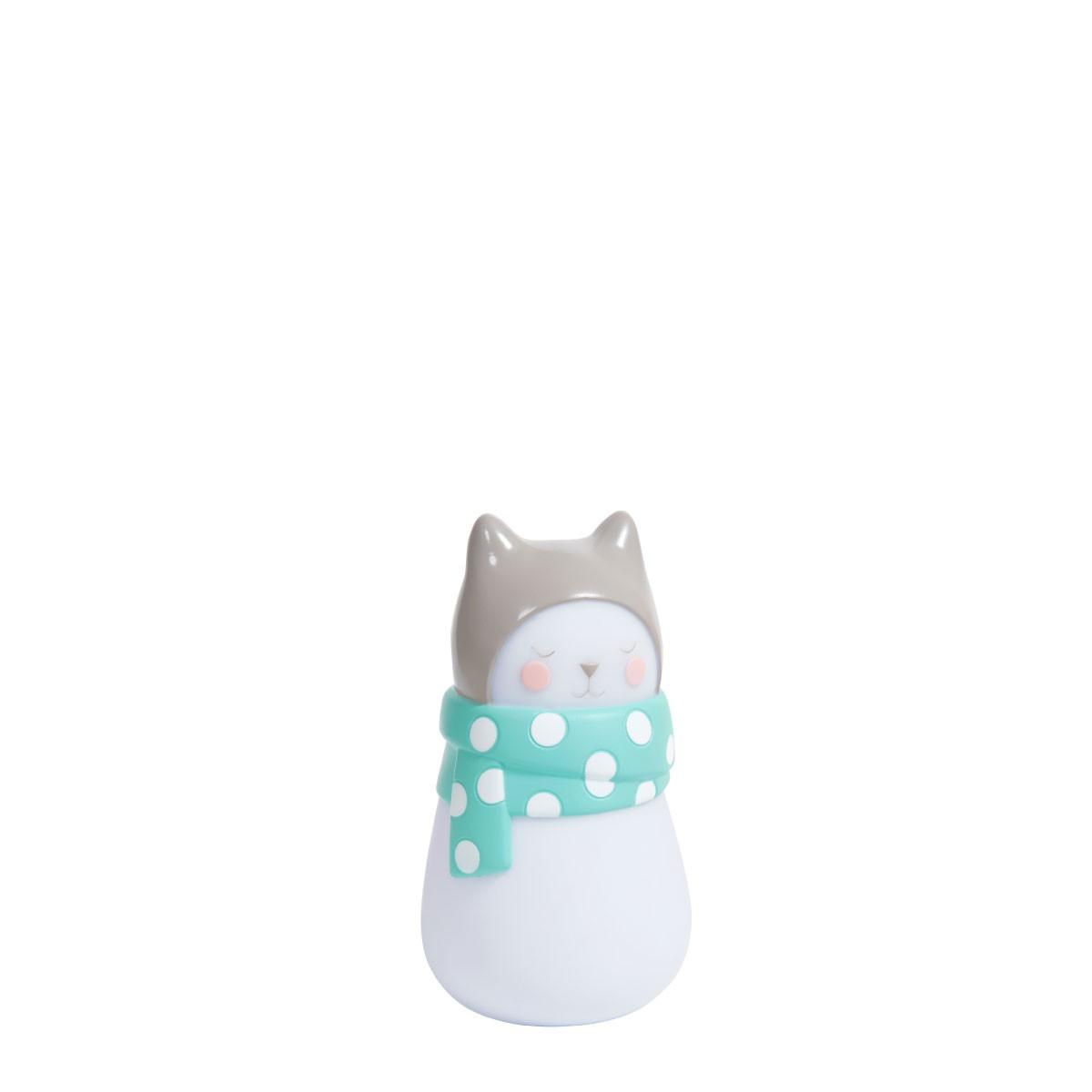 Mini Luminária De Mesa Les Petit Dodo Gatinho