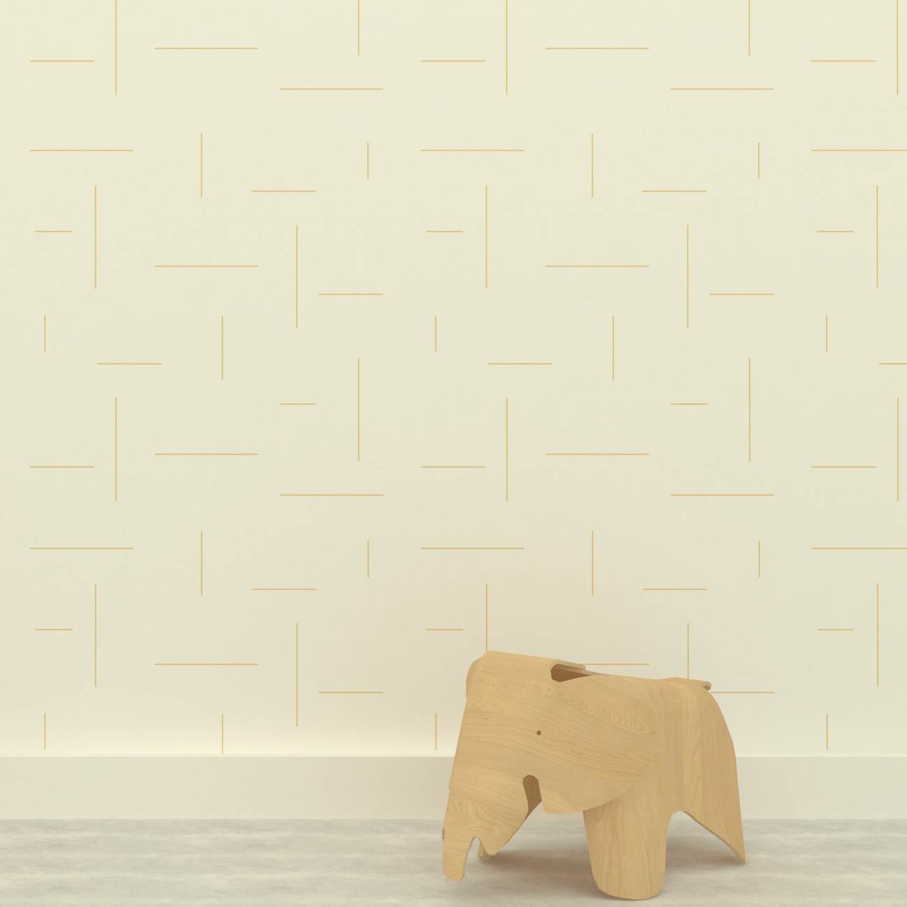 Papel de parede Ameise Traços Cinza