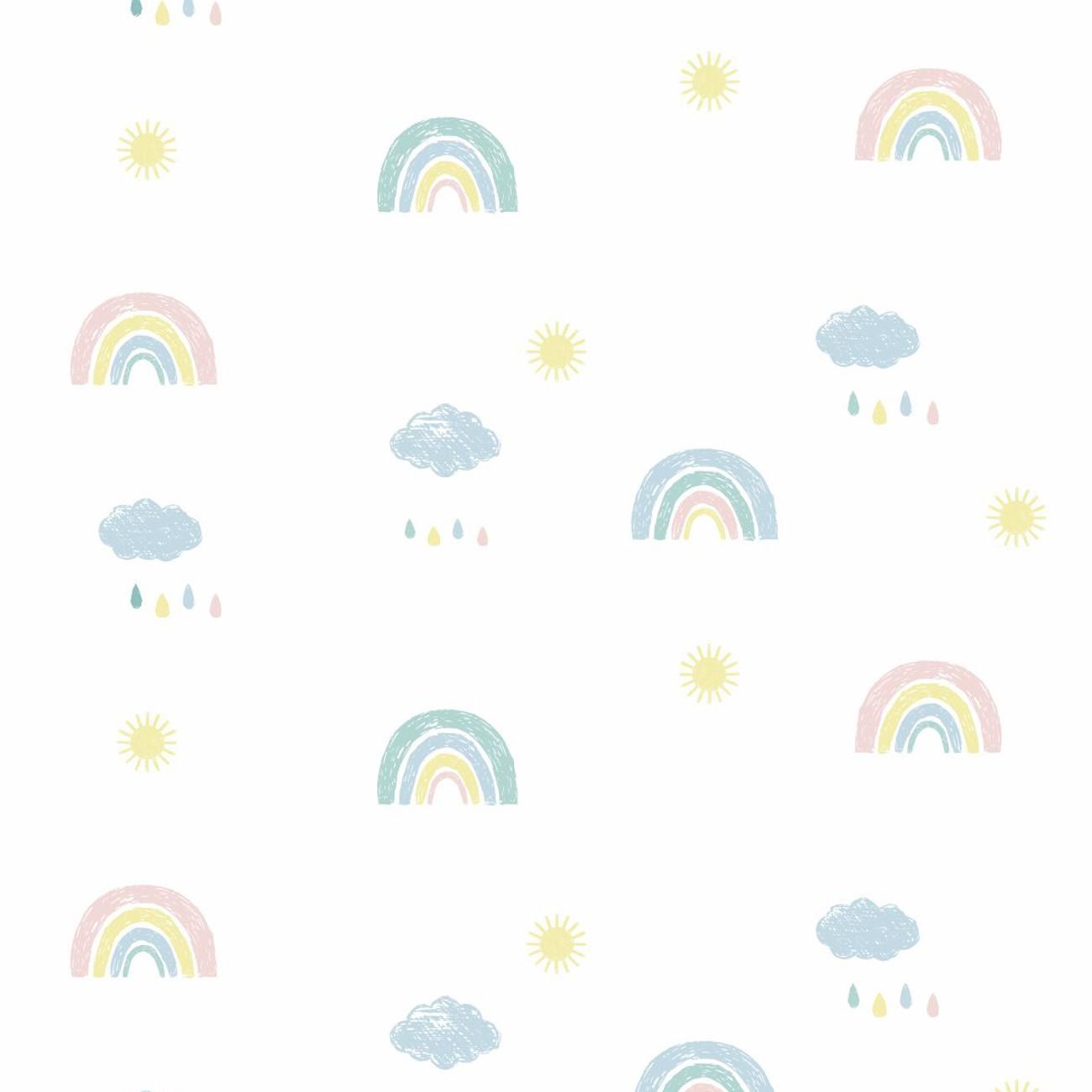 Papel de parede Arco Íris Candy