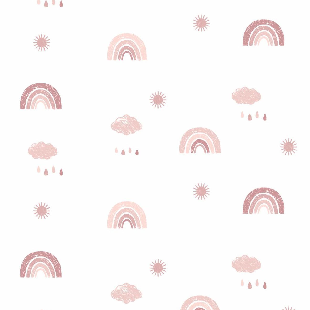 Papel de parede Arco Íris Rosa