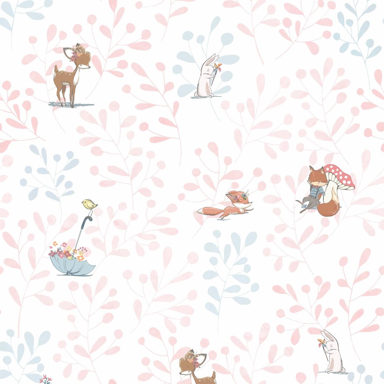 Papel de parede Bosque da Bia Rosa
