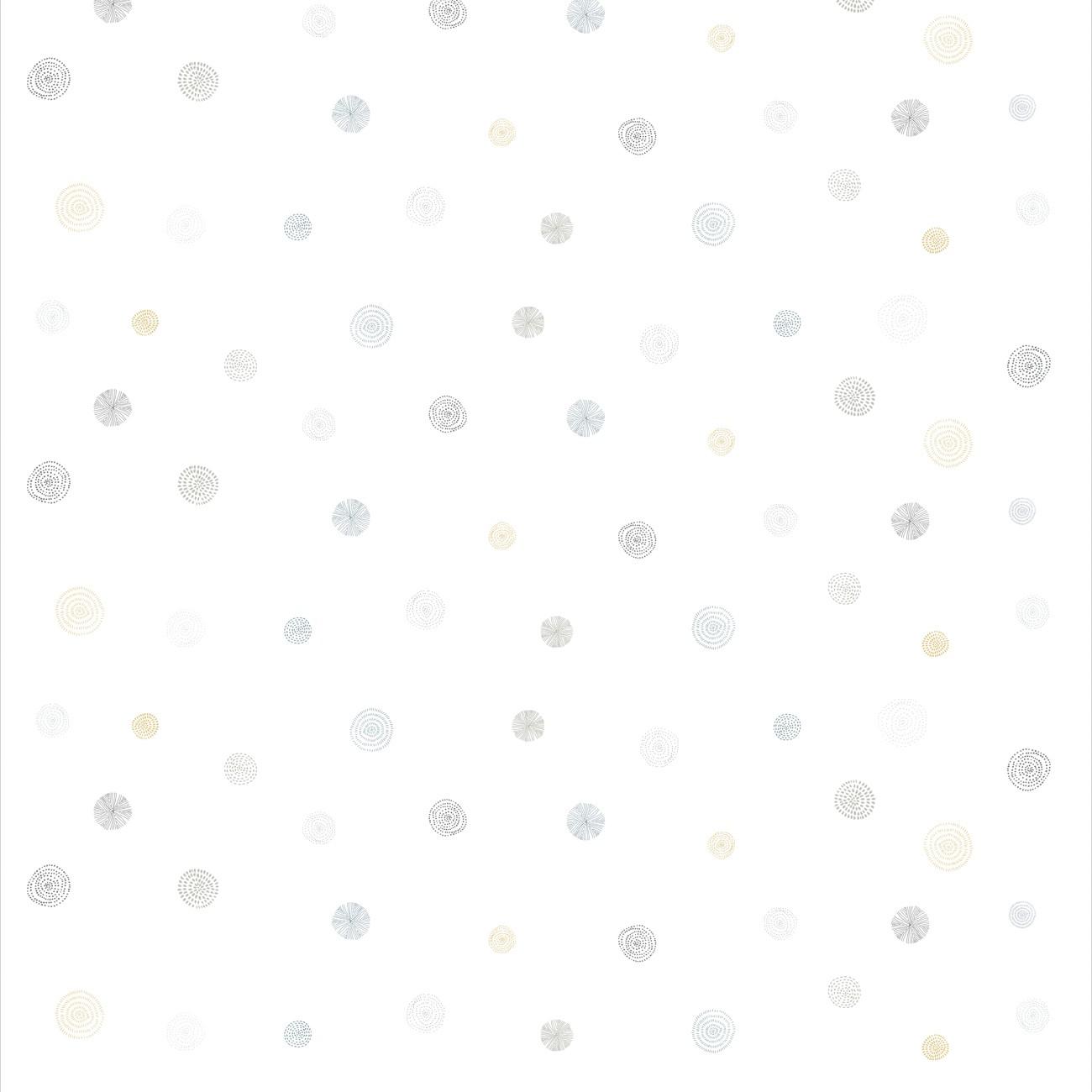 Papel de parede Círculos Cinza