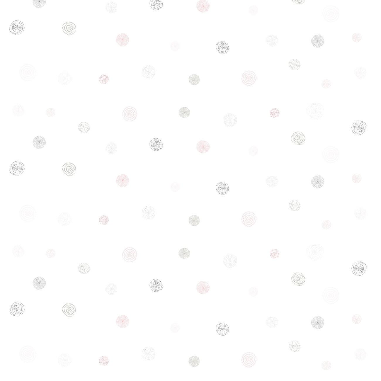Papel de parede Círculos Rosa