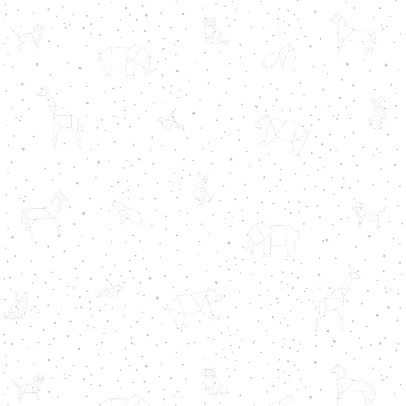 Papel de parede Constelação Cinza