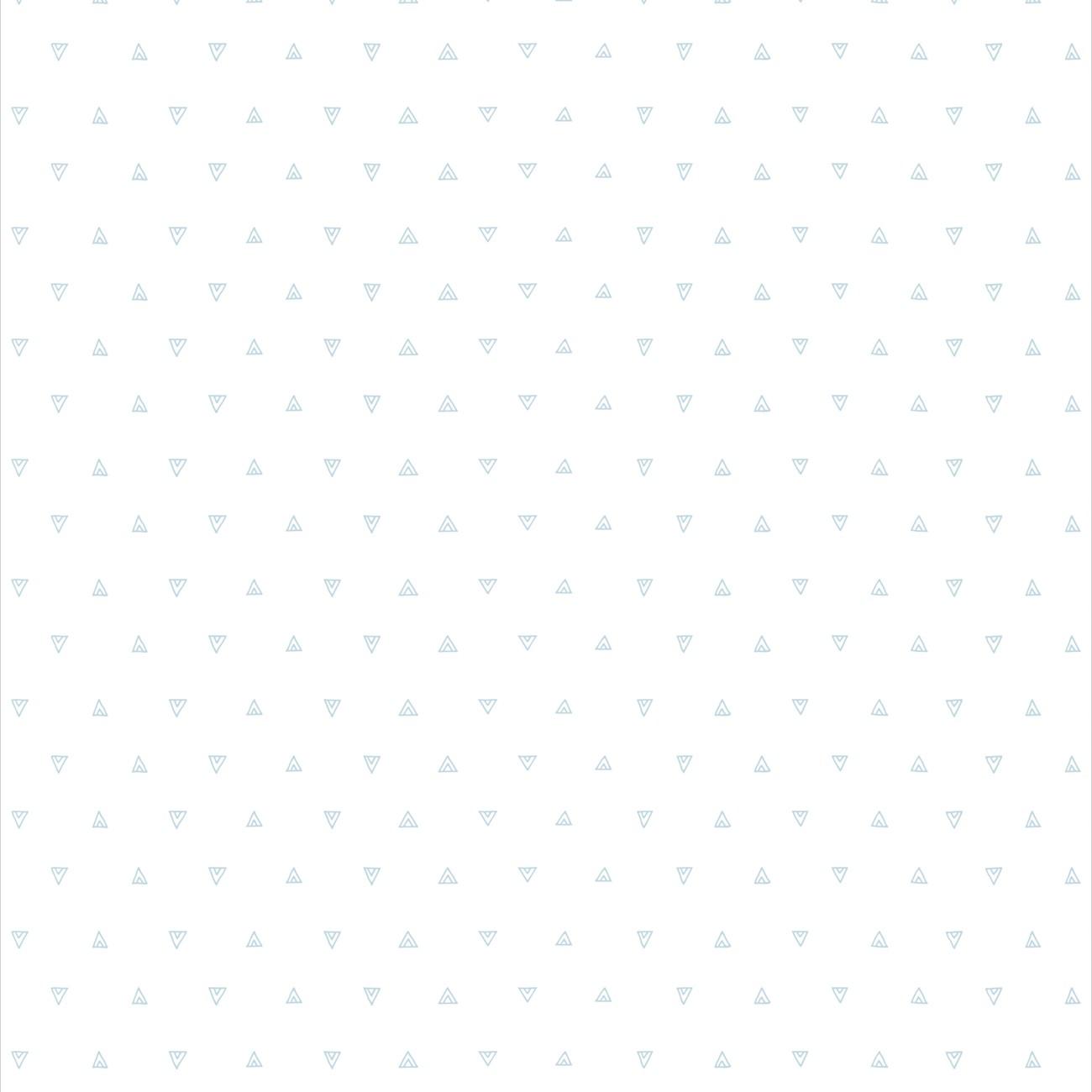 Papel de parede Mini Triângulos Azul