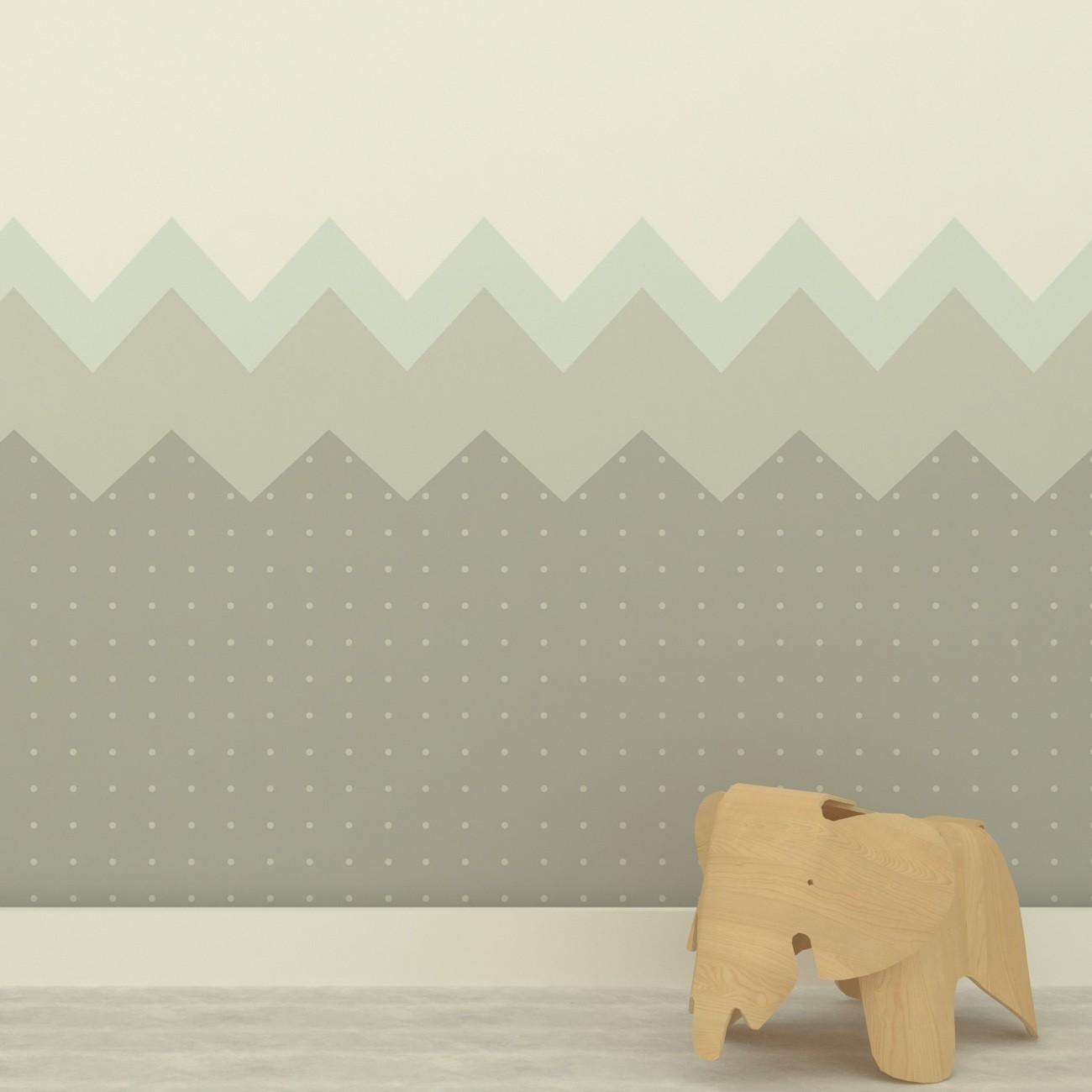 Papel de parede Montanhas Azul