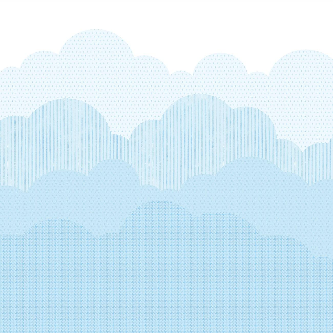 Papel de parede Nuvens Fundo Azul