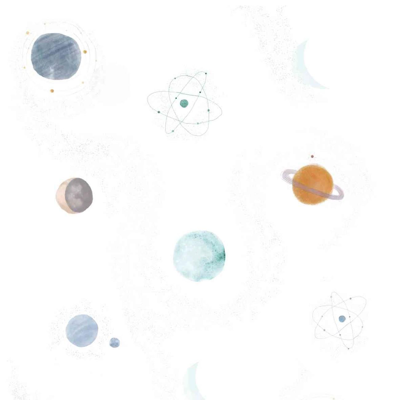 Papel de parede Planetas Coloridos