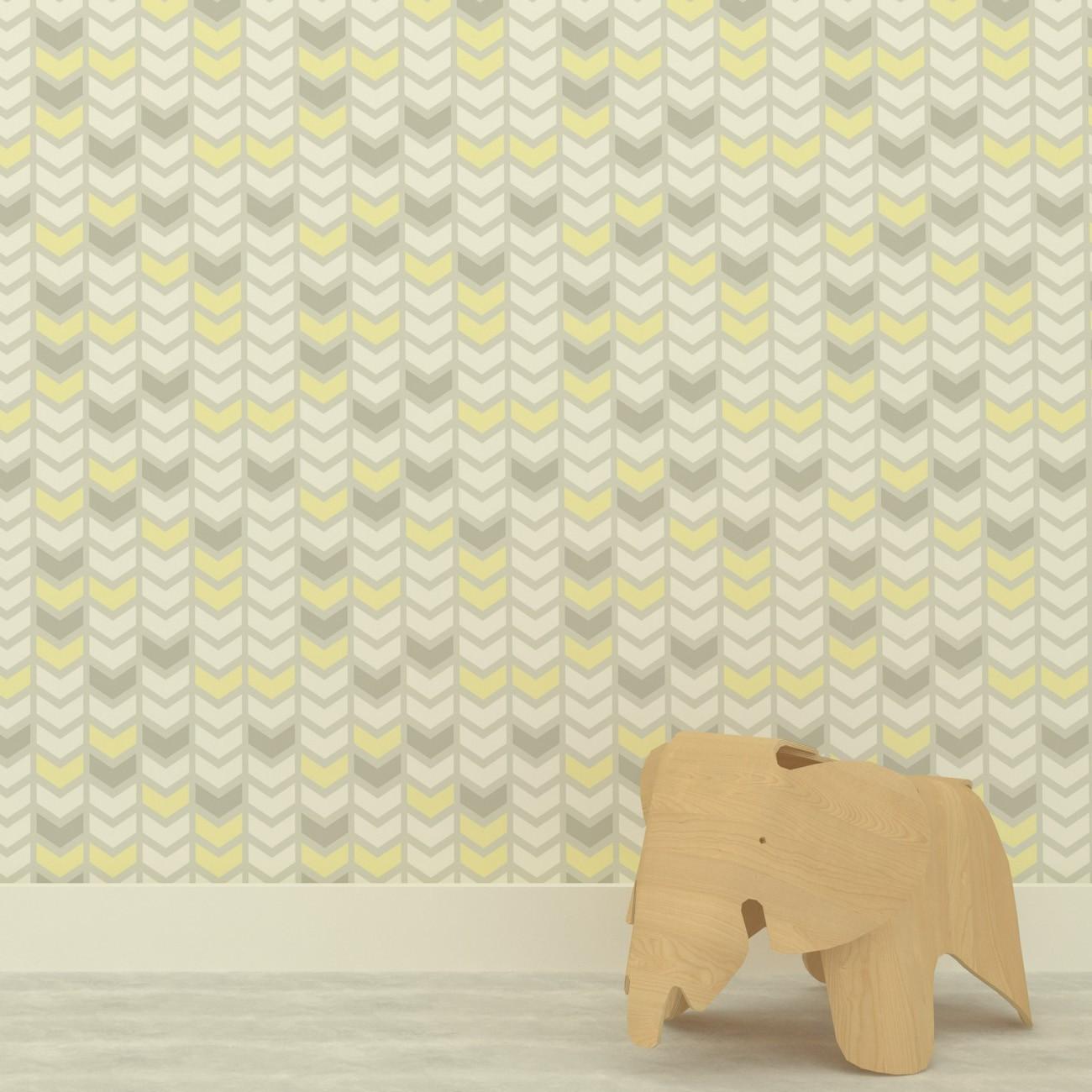 Papel de parede Setas Amarelo